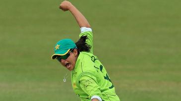 Sana Mir celebrates a wicket