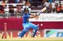 Ajinkya Rahane leans back to cut, West Indies v India, 2nd ODI, Port-of-Spain, June 25, 2017