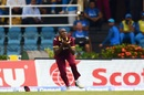 Miguel Cummins takes a catch to dismiss Hardik Pandya, West Indies v India, 2nd ODI, Port-of-Spain, June 25, 2017