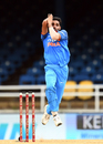 Bhuvneshwar Kumar took two wickets in his first two overs, West Indies v India, 2nd ODI, Port-of-Spain, June 25, 2017