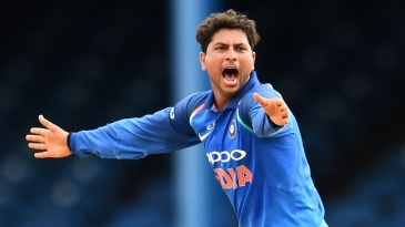 Kuldeep Yadav makes an appeal