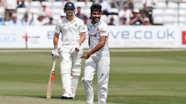 Mohammad Amir struck early on his Championship debut for Essex