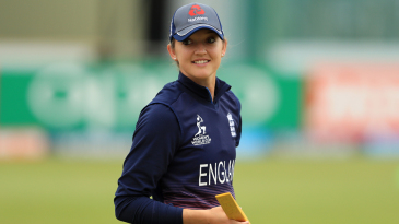 Sarah Taylor reacts while engaging in a fielding drill