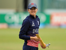 Sarah Taylor reacts while engaging in a fielding drill, England v Pakistan, Women's World Cup, Leicester, June 27, 2017
