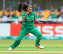 Kainat Imtiaz rejoices after trapping Sarah Taylor in front, England v Pakistan, Women's World Cup, Leicester, June 27, 2017