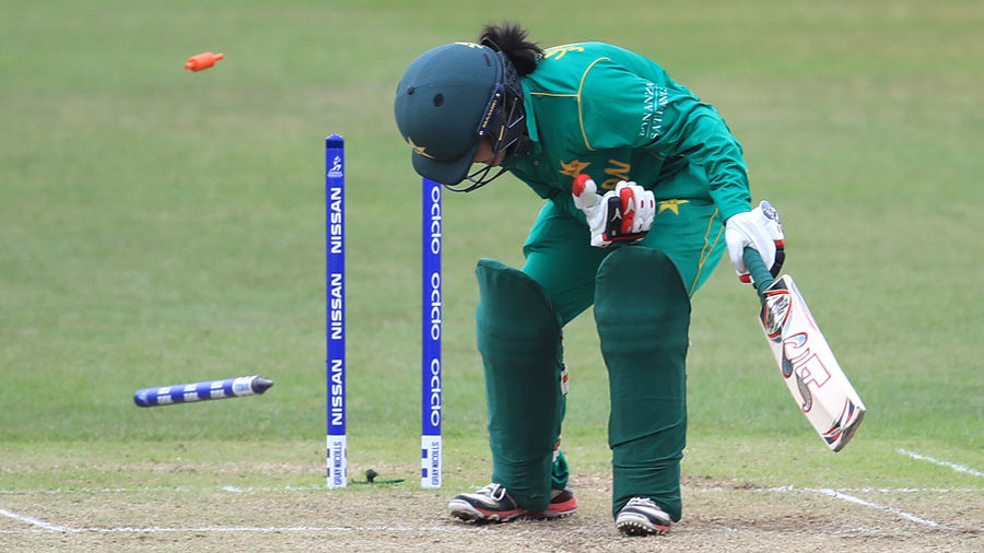 Javeria Khan loses her middle stump