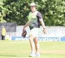 Zimbabwe coach Heath Streak sets up some markers during warm-ups, Scotland v Zimbabwe, 2nd ODI, Edinburgh, June 17, 2017