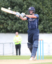 Calum MacLeod top-edges a hook for a boundary during his 58, Scotland v Zimbabwe, 2nd ODI, Edinburgh, June 17, 2017