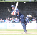 Richie Berrington plays a flamingo flick, Scotland v Zimbabwe, 2nd ODI, Edinburgh, June 17, 2017