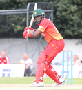 Hamilton Masakadza eyes up a short delivery, Scotland v Zimbabwe, 2nd ODI, Edinburgh, June 17, 2017