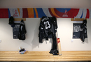 A glimpse of Suzie Bates' jersey inside the New Zealand dressing room, New Zealand v South Africa, Women's World Cup, Derby, June 28, 2017