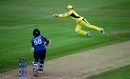 Alex Blackwell puts in a diving effort to save a boundary, Australia v Sri Lanka, Women's World Cup, Bristol, July 29, 2017