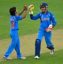 Poonam Yadav and Sushma Verma combined to dismiss Merissa Aguilleira, India v West Indies, Women's World Cup, Taunton, June 29, 2017