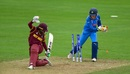 Sushma Verma whips the bails off to catch Chedean Nation short, India v West Indies, Women's World Cup, Taunton, June 29, 2017