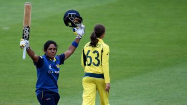 Chamari Atapattu scored her third ODI hundred