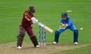 Shanel Daley plays a cut, India v West Indies, Women's World Cup, Taunton, June 29, 2017