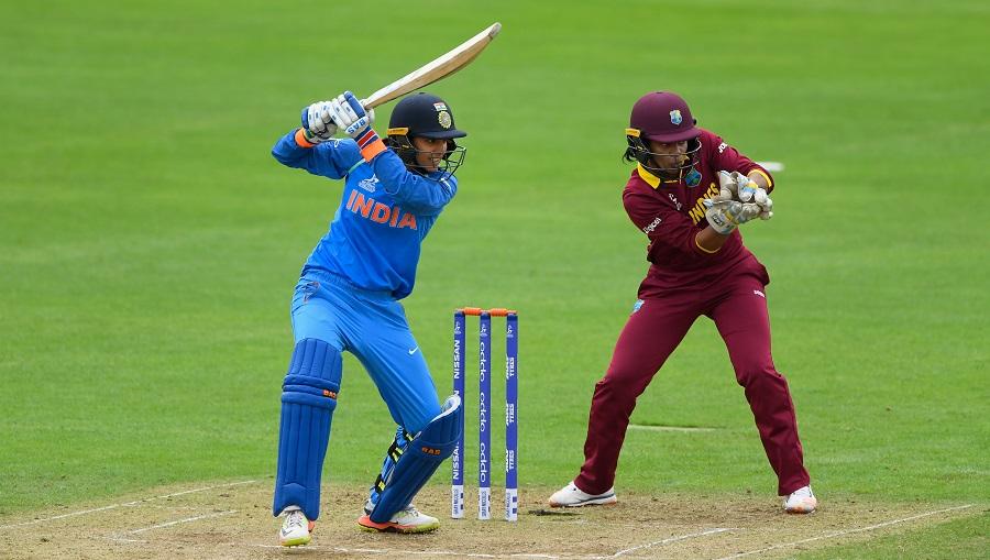 Smriti Madhana made her second successive fifty-plus score ...