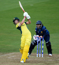 Meg Lanning goes over the top, Australia v Sri Lanka, Women's World Cup, Bristol, June 29, 2017