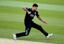 Jade Dernbach celebrates a dismissal, Surrey v essex, Royal London Cup, South Group, Kia Oval, May 2, 2017