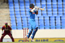 Shikhar Dhawan gets under a short ball for the upper cut, West Indies v India, 3rd ODI, Antigua, June 30, 2017