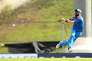 Yuvraj Singh gets aerial as he unleashes a throw, West Indies v India, 3rd ODI, Antigua, June 30, 2017