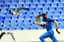 Hardik Pandya races seagulls in the outfield, West Indies v India, 3rd ODI, Antigua, June 30, 2017