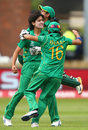 Diana Baig found her maiden ODI wicket in Smriti Mandhana, India v Pakistan, Women's World Cup 2017, Deby, July 2, 2017