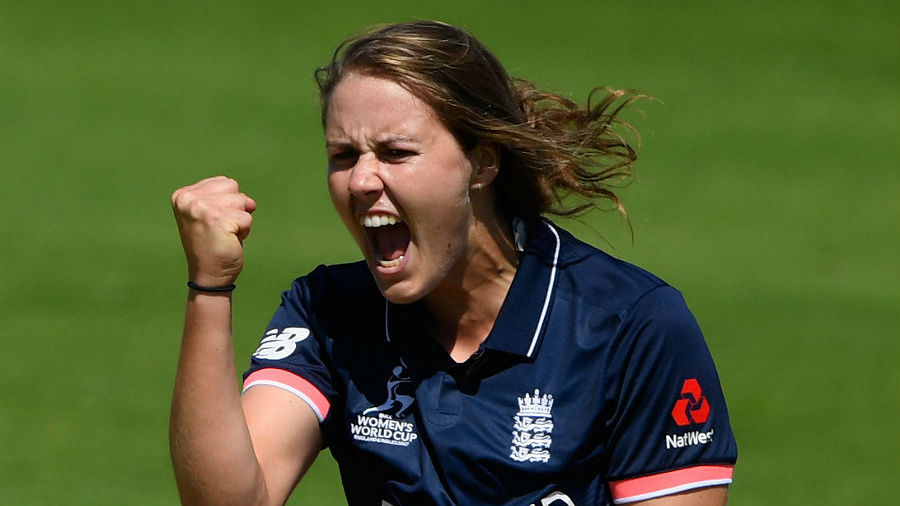 Nat Sciver celebrates a wicket