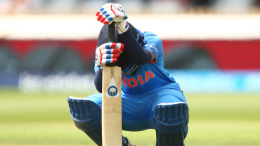 Punam Raut is dejected after falling for 47