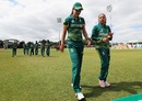 Marizanne Kapp and Shabnim Ismail took six wickets between them, South Africa v West Indies, Women's World Cup, Leicester, July 2, 2017