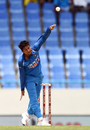 Kuldeep Yadav took the wickets of Evin Lewis and Roston Chase, West Indies v India, 4th ODI, Antigua, July 2, 2017