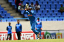 Ravindra Jadeja runs backwards to hold onto a catch, West Indies v India, 4th ODI, Antigua, July 2, 2017