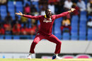 Kesrick Williams appeals, West Indies v India, 4th ODI, Antigua, July 2, 2017