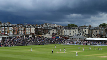 A view across North Marine Road as Yorkshire take on Somerset