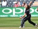 Amelia Kerr bowls, Australia v New Zealand, Women's World Cup 2017, Bristol, July 2, 2017