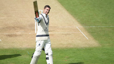 Stevie Eskinazi celebrates his hundred