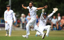 Imran Tahir appeals for a wicket, Derbyshire v Durham, County Championship, Division Two, Chesterfield, 2nd day, July 4, 2017