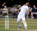 Hamidullah Qadri in his delivery stride, Derbyshire v Durham, County Championship, Division Two, Chesterfield, 2nd day, July 4, 2017