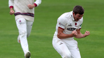 Craig Overton claimed a five-wicket haul