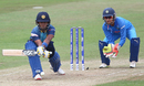 Chamari Atapattu attempts the reverse sweep, India v Sri Lanka, Women's World Cup 2017, Derby, July 5, 2017