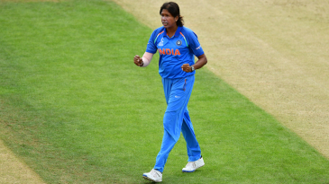 Jhulan Goswami bowled a stifling and accurate first spell