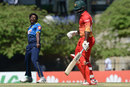 Nuwan Pradeep celebrates after trapping Solomon Mire in front, Sri Lanka v Zimbabwe, 3rd ODI, Hambantota, July 6, 2017