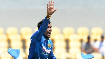 Wanindu Hasaranga won his appeal for lbw