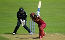 Rachel Priest holds on to a spinning ball that Hayley Matthews fails to connect with, West Indies v New Zealand, Women's World Cup, Taunton, July 6, 2017