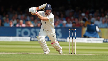 Gary Ballance drives through the off side