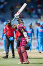 Kyle Hope lets out a cry of anguish after holing out to midwicket, West Indies v India, 5th ODI, Kingston, July 6, 2017