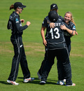 Leigh Kasperek opened the bowling and troubled the West Indies batting, West Indies v New Zealand, Women's World Cup, Taunton, July 6, 2017
