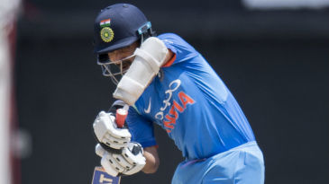 Ajinkya Rahane was unaffected by the loss of an early wicket