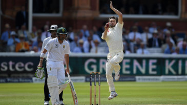 Mark Wood runs it at Lord's on his return to Test cricket