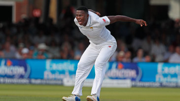 Kagiso Rabada was pumped after removing Ben Stokes